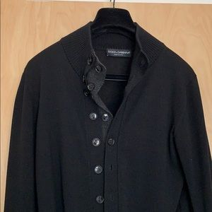 Exquisite Dolce and Gabbana men's wool cardigan